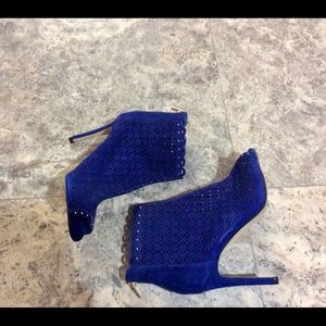 Marc Fisher Royal Open-Toe Studded Booties 9